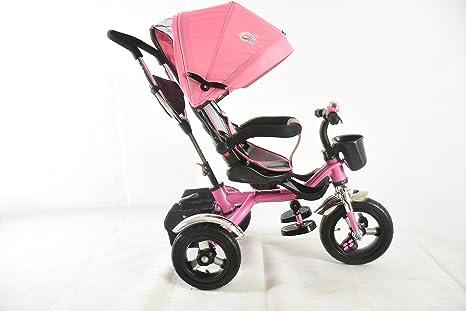 Premium 4 in1 Kids niños bebé Trike triciclo 3 rueda para carrito Ride Bike rosa rosa