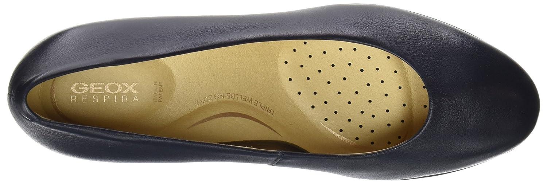 Geox Damen D Annya Mid B ultraleichter, Klassik-Pumps mit 5cm-Block-Absatz und ultraleichter, B Flexibler Sohle aus Eva 1.1 Blau (Navy) e26926