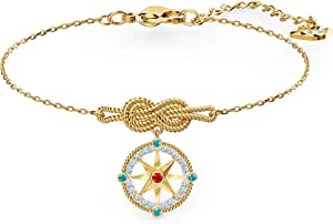 Swarovski Women's Ocean Adventure Bracelet, Crystals with Gold-tone Plated Metal, from the Amazon Exclusive Swarovski Ocean Adventure Collection