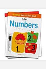 Reusable Wipe And Clean Book 1-10 Numbers : Write And Practice Numbers (1-10) (Reusable Wipe and Clean Books) Paperback