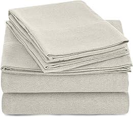 Amazon Basics Juego de sábanas de Jersey Jaspeado - Individual Extragrande