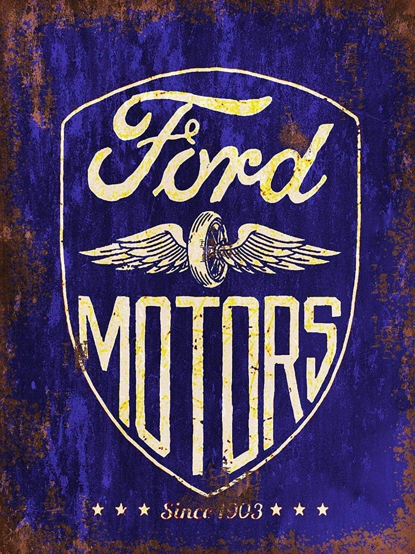 KELLEN WHITEHEAD Ford Motors Affiche De D/écoration Dr/ôle De Panneau De Mur en M/étal Art