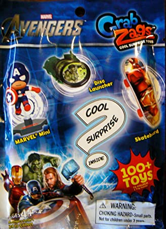 Marvel Avengers Grab Zags (1) Random Pack. Each pack contains (1 ...