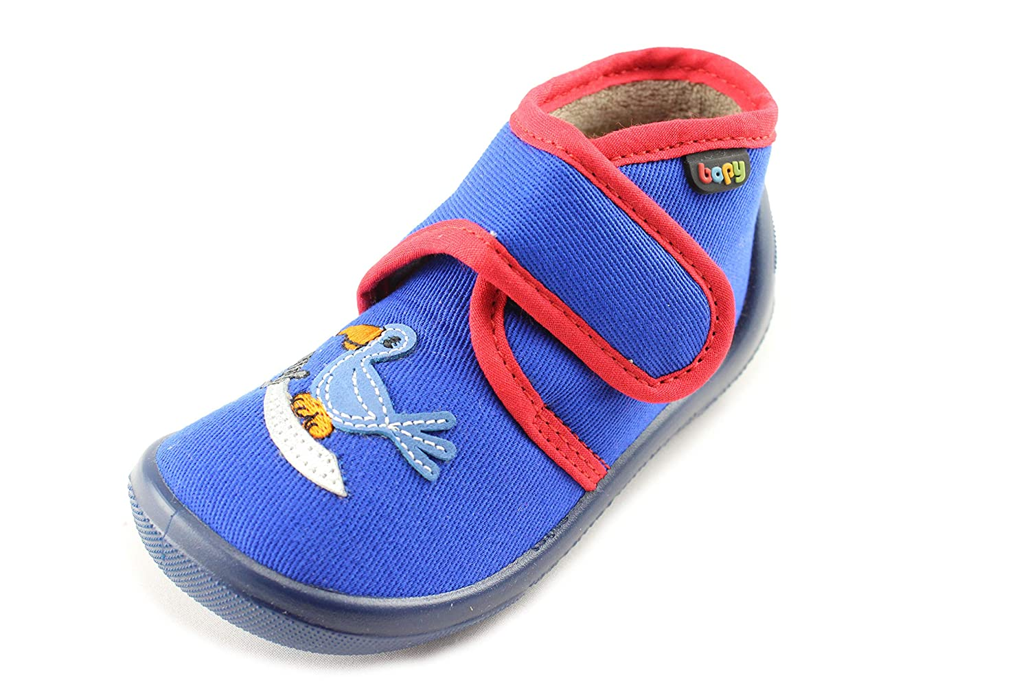 Bopy Ababord Blue Boys Canvas Slippers