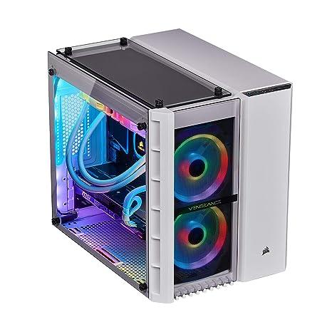 CORSAIR Vengeance 5189 Gaming PC, i7-9700K, RTX 2080, Z390, 960GB M 2 SSD,  32GB DDR4-3000, Win 10 Home - White