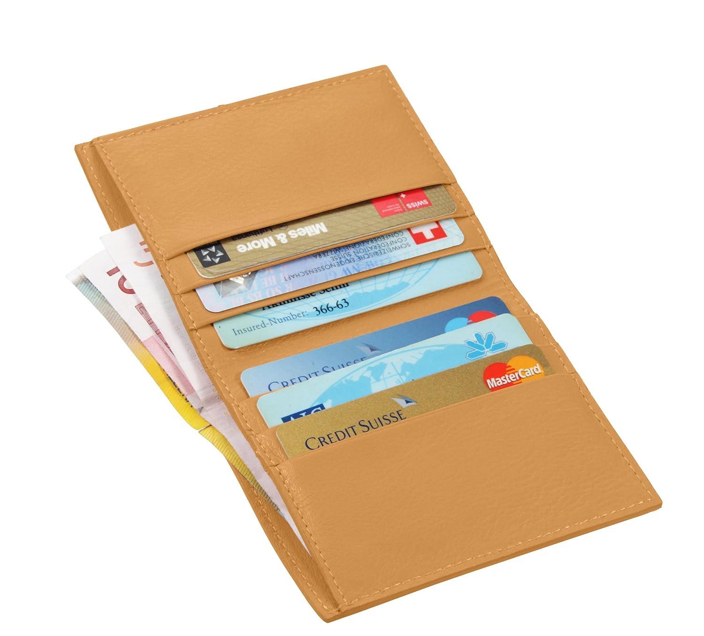 Lucrin Porte Carte de Crédit Porte Feuille pour Billet Cuir VachetteLisse Orange PM1192_VCLS_ORG PM1192_VCLS_ORG_Orange_10