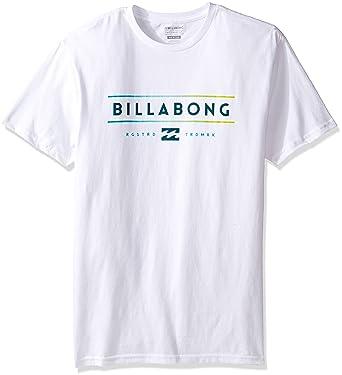 cbdfc5c3 Billabong Men's T-Shirts, White Dual Unity Medium