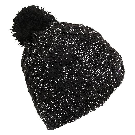 03d4d73a0 ProClimate Womens/Ladies Sparkle Beanie Hat (One Size) (Black) at ...