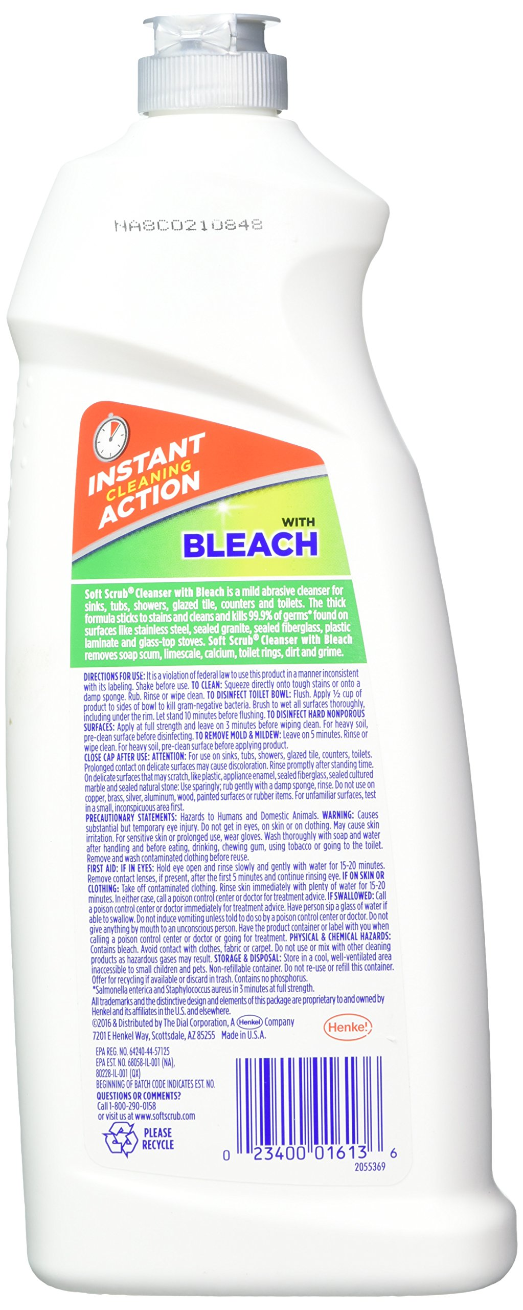 Soft Scrub with Bleach Cleanser 36 oz. Bottle, (Pack of 3) by Soft Scrub (Image #2)