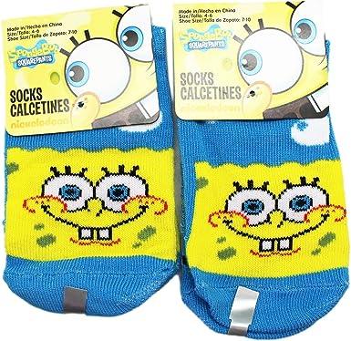 Toddler//Little Kid Pack Socks Spongebob Boys 10