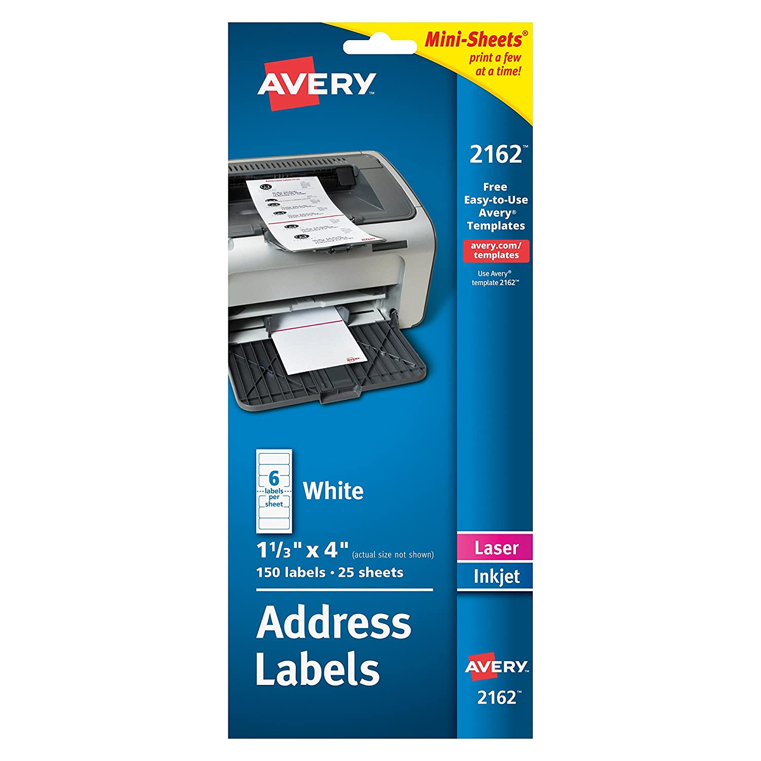amazoncom avery mini sheets shipping labels 1 13 x 4 pack of 150 2162 shipping labels office products