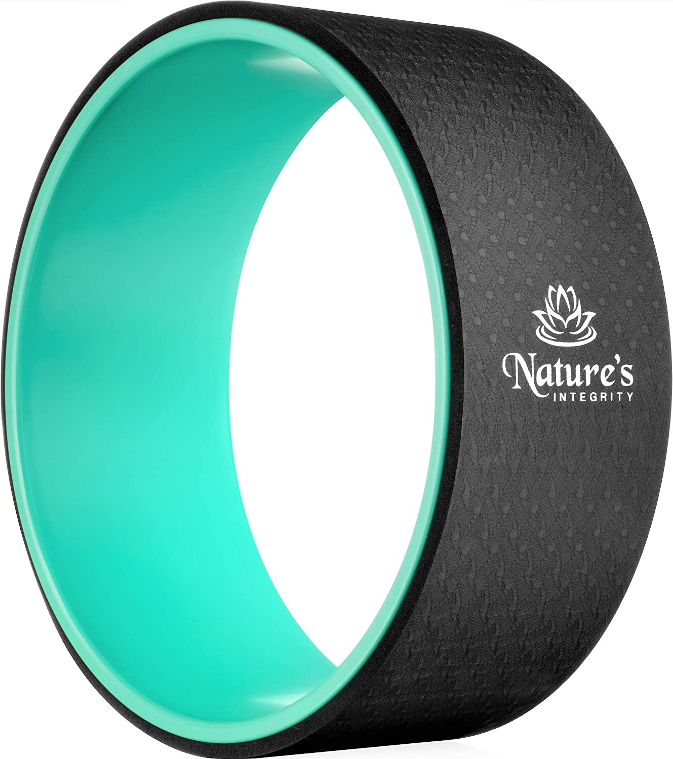 """Nature's Integrity Yoga Wheel 13"""" [Elite Series] - for Stretching, Back Pain, Improving Backbends - Dharma Yoga Circle Ring, Back Stretcher, Spine Roller - Eco-Friendly - Bonus Pose Guide Included"""