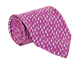 Salvatore Ferragamo Men's Sailboat Print Silk Tie Purple