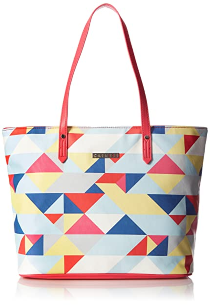 1b08525aad Caprese Paula Women s Tote Bag (Coral)  Amazon.in  Shoes   Handbags