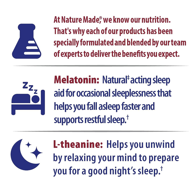 Amazon.com: Nature Made Good Sleep Gummy: 4 mg Melatonin & 200 mg L-Theanine 60 Ct: Health & Personal Care