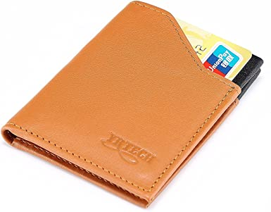 Men/'s Retro Style Leather Minimalist Credit Card Holder Front Pocket Wallet