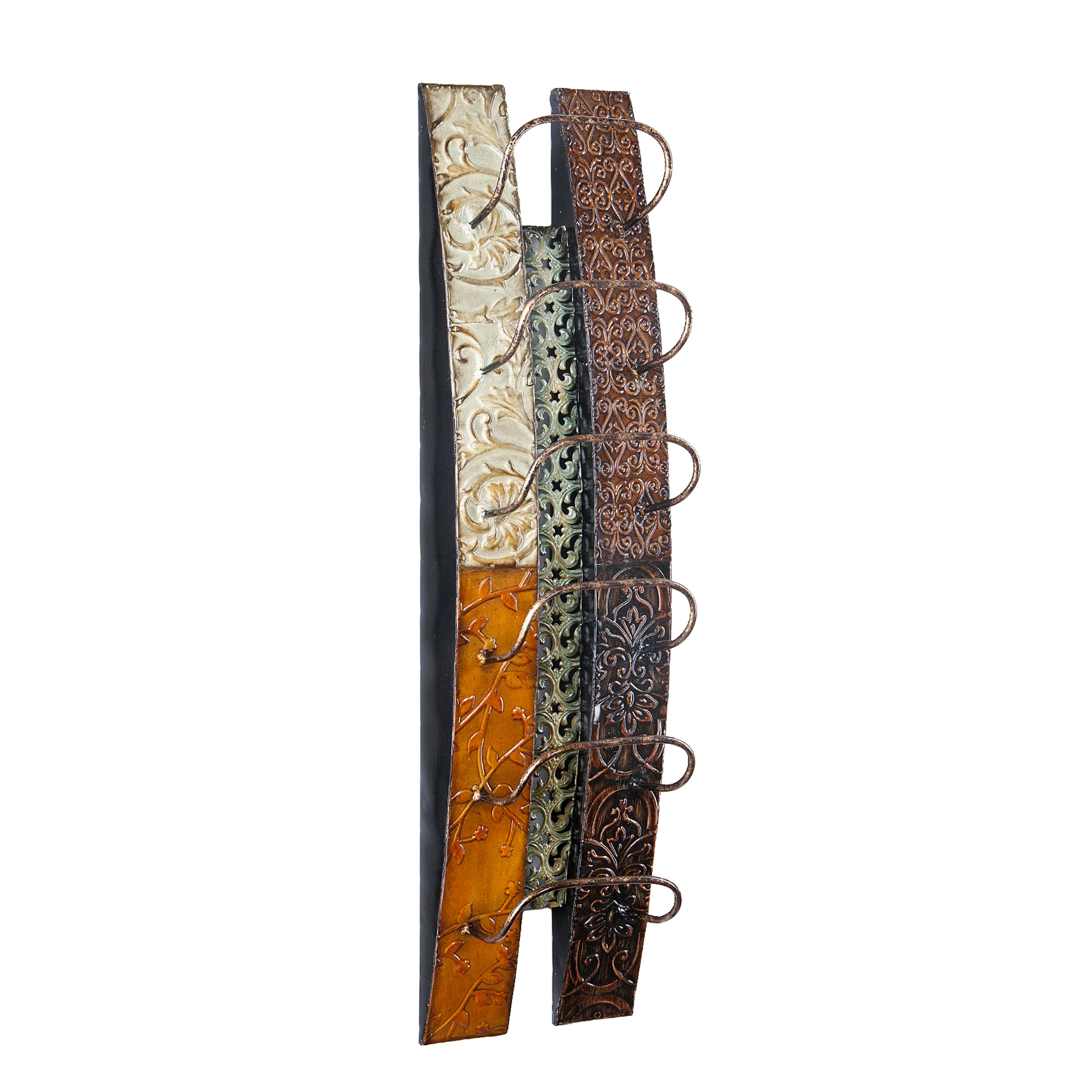 Southern Enterprises Adriano Wine Bottle Wall Mount Rack Storage - Holds 6 Bottles - All Metal Construction by Southern Enterprises