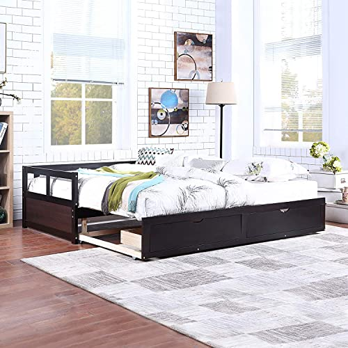 SOFTSEA Extendable Woodem Daybed