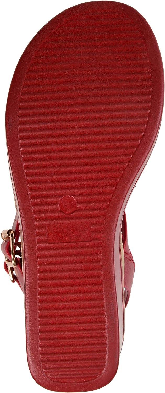 Womens T-Strap Wedge Sandal Brinley Co