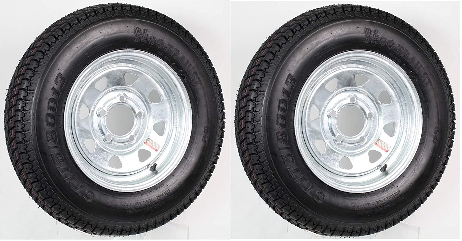 "ST 175//80D13 Trailer Trailer Tire 13/"" White Spoke Wheel 5H"