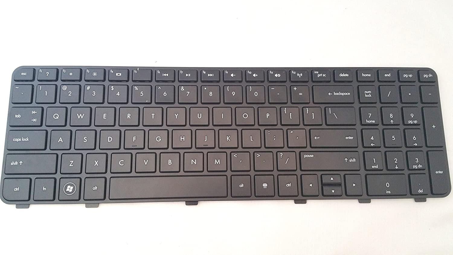 P&U New Black keyboard with Frame for HP Pavilion DV6-6120USDV6-6121HE DV6-6123CL DV6-6123NR DV6-6126NR DV6-6127CL DV6-6128NR DV6-6130US DV6-6131US DV6-6133CL DV6-6135DX DV6-6136NR DV6-6140US DV6-6143NR DV6-6144NR DV6-6145DX DV6-6146NR DV6-6148NR Laptop / Notebook US Layout