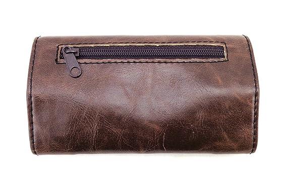 La siesta - Petaca para tabaco de liar (compartimento fino), color marrón: Amazon.es: Hogar