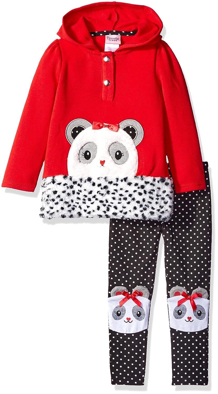Nannette Girls 2 Piece Fleece Polar Bear Hoodie Sweatshirt and Legging