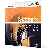 D'Addario EJ10 Bronze Acoustic Guitar Strings