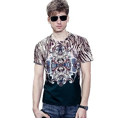finest selection 8cb79 faff2 FANZHUAN Stylische T-Shirts Herren Slim Fit Moderne: Amazon ...