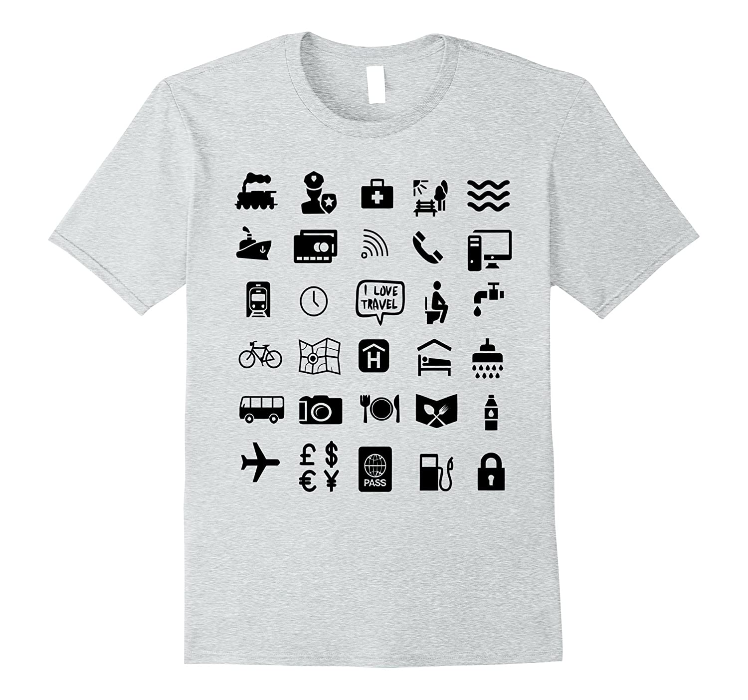 Travel Icon Shirt Travel Guide Icons T-Shirt