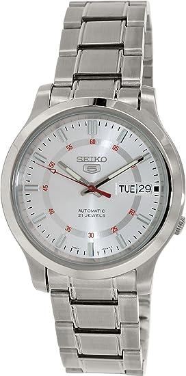 Seiko Reloj Analógico para Hombre de Automático con Correa en Acero Inoxidable SNKN19K1