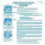 FD-258 Fingerprint Kit: 5 Cards, Ink, and