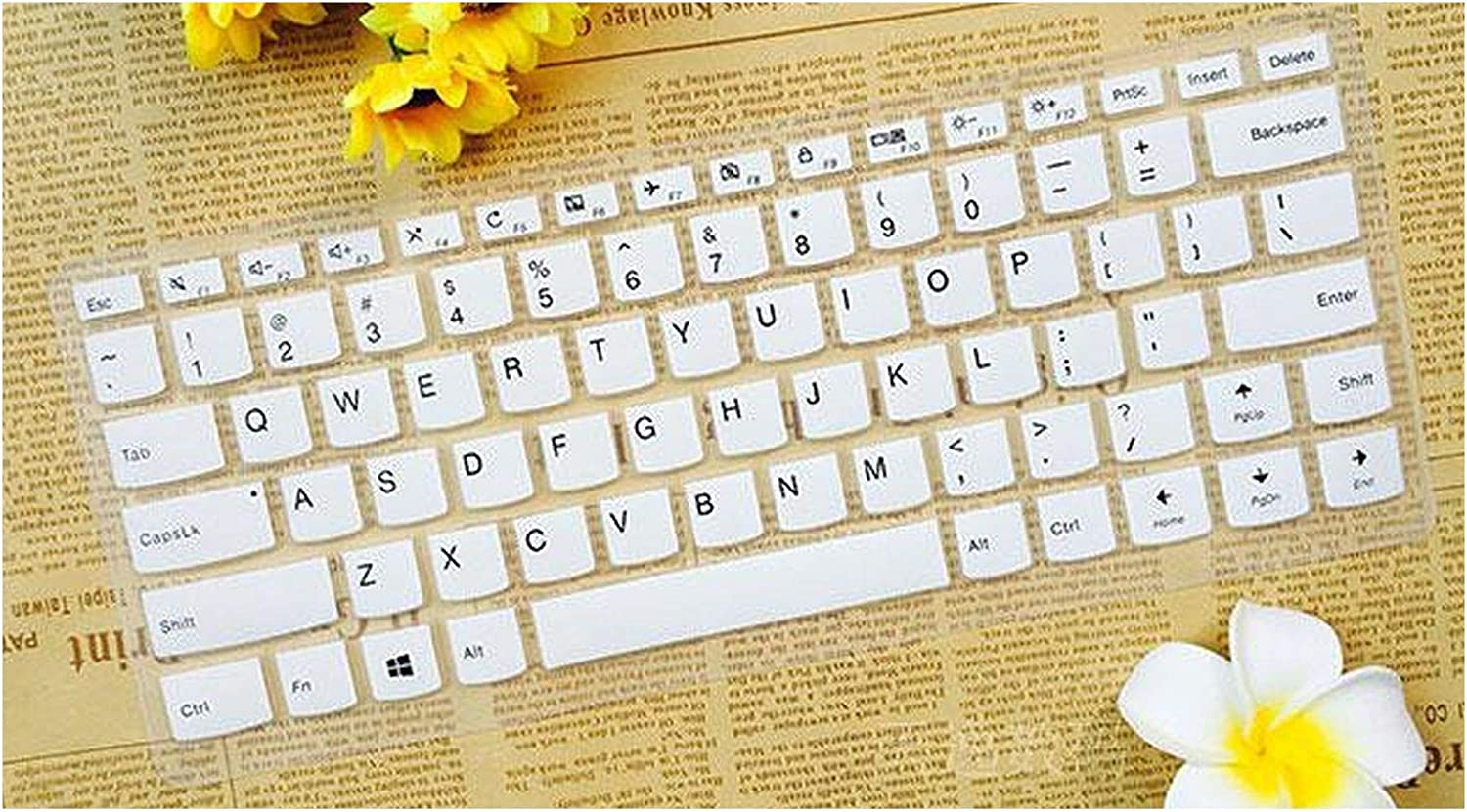 Colorful Silicone Keyboard Cover Skin Protector for Lenovo Flex 4 1480 Yoga 5 Pro Yoga 910 13 910 13ikb Miix720 Miix 720 12,White