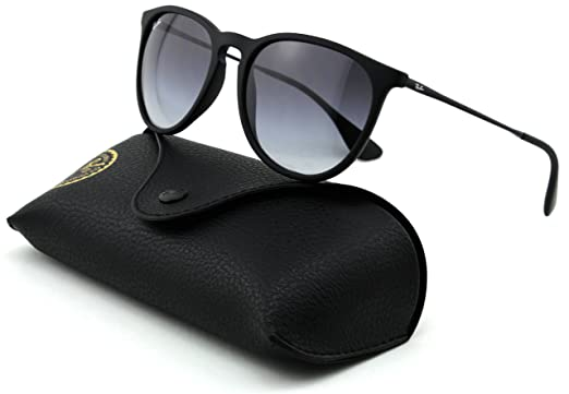 572155f682d06 Amazon.com  Ray-Ban RB4171 ERICA Unisex Gradient Aviator Sunglasses (Rubber  Black Frame