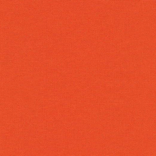 Textiles français Tela de algodón - Naranja - 100% algodón Suave ...