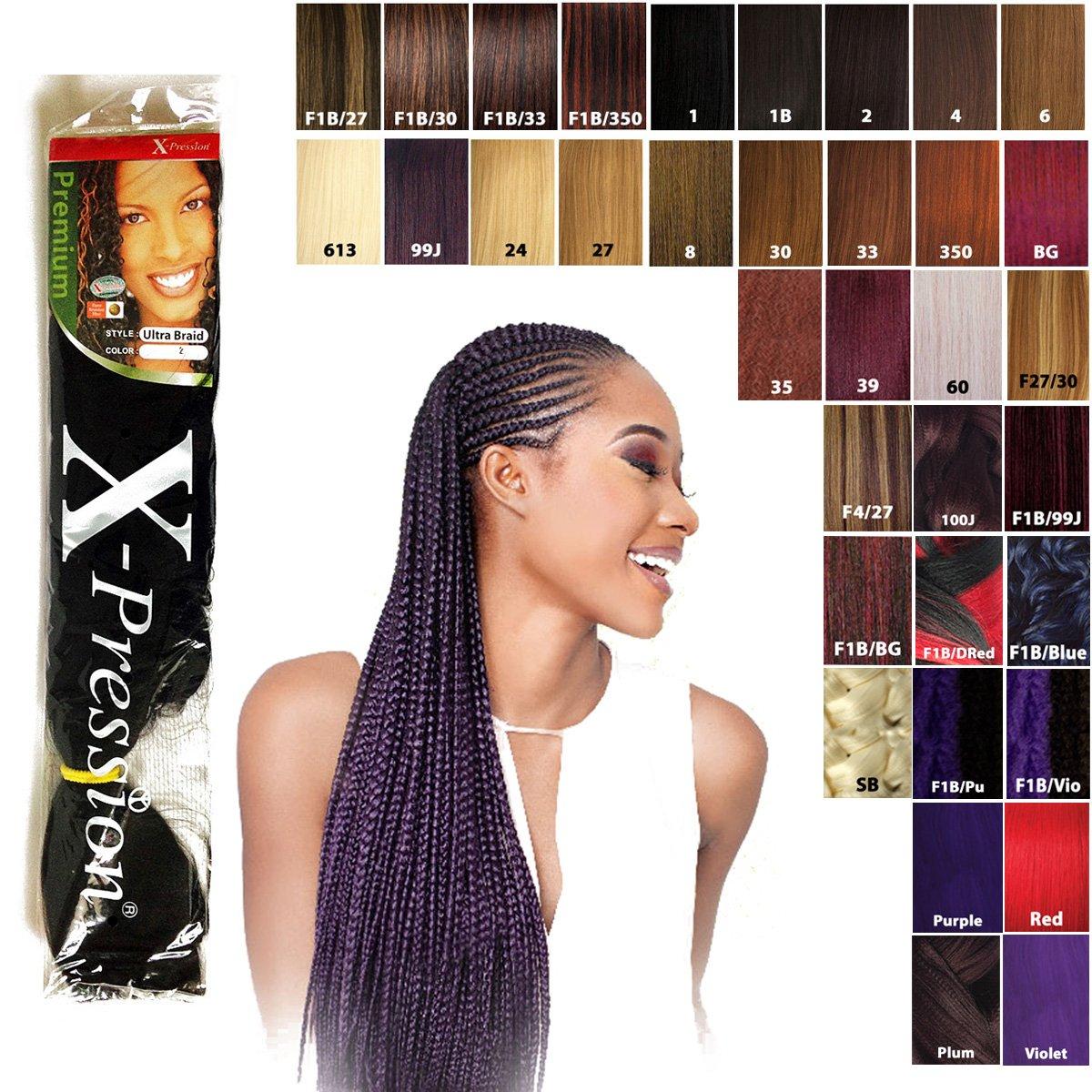 X-Pression Premium Original Ultra Braids (55PCS) - bulk