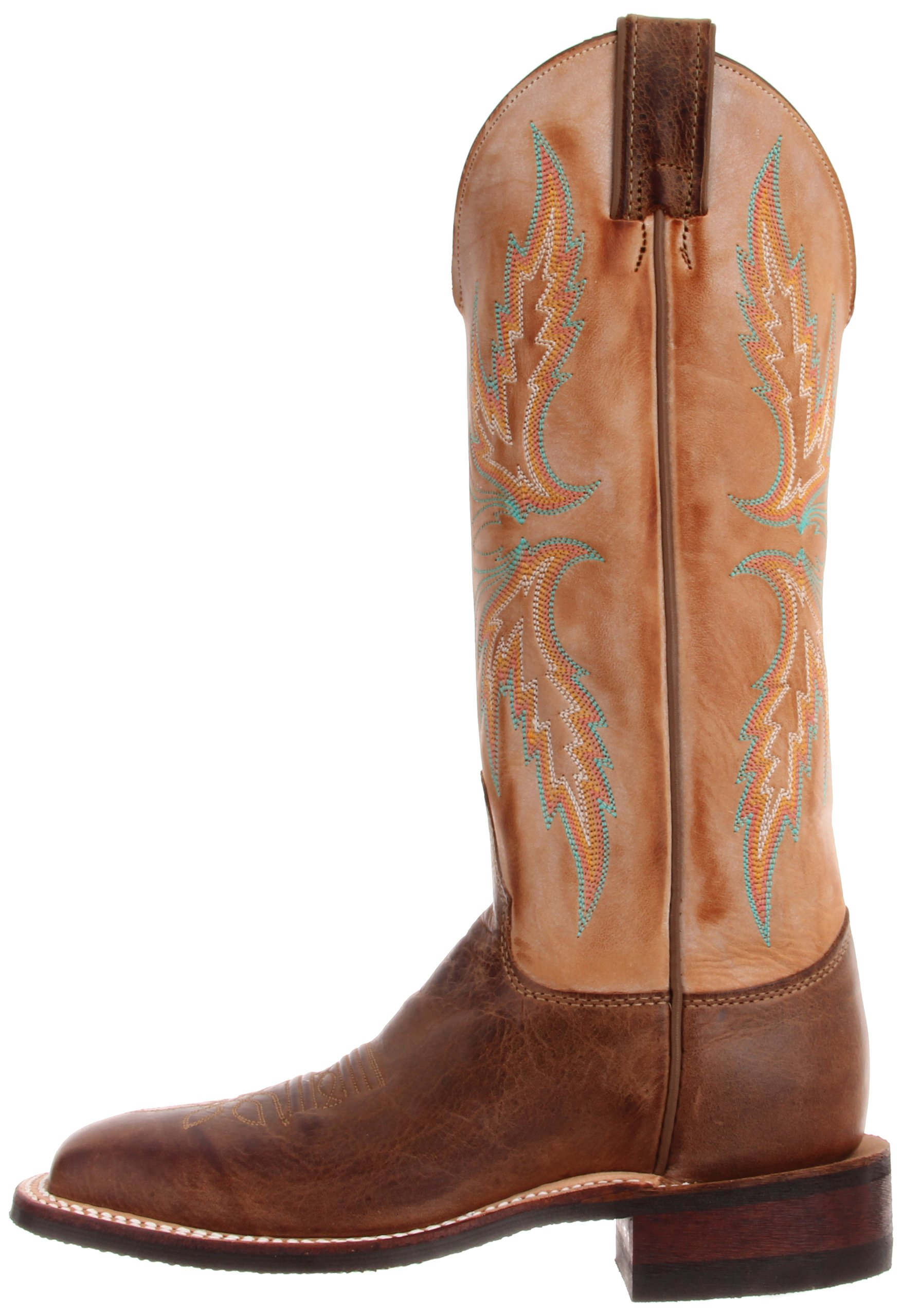 Justin Boots Women's U.S.A. Bent Rail Collection 13'' Boot Wide Square Double Stitch Toe Performance Rubber Outsole,Arizona Mocha/Fogged Camel,6.5 B US by Justin Boots (Image #5)