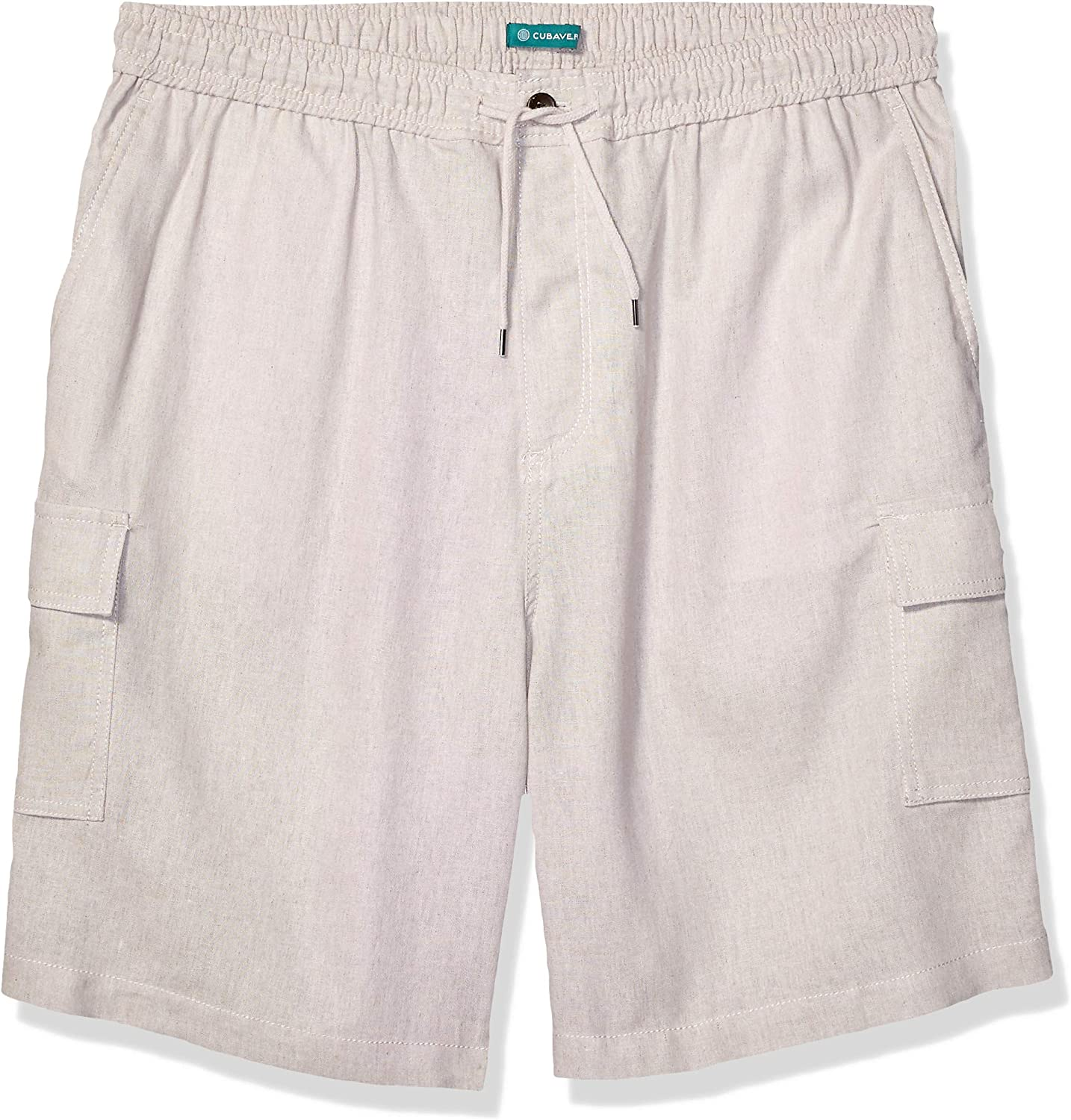 Cubavera Men's Big and Tall Drawstring Linen Cargo Short