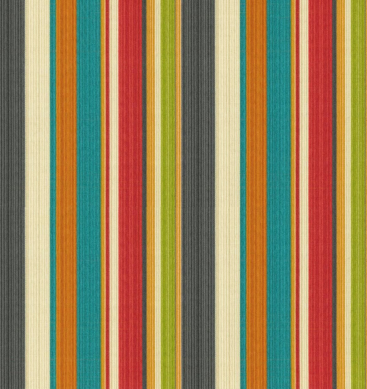 RSH DECOR Set of 4 - Indoor/Outdoor 17'' Square Decorative Throw Toss Pillows ~ Draw The Line Fiesta Stripe Black Green Yellow Red Blue