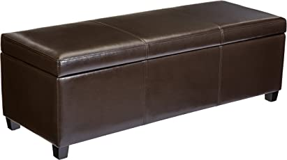 First Hill WFO076BR Modern Dark Ottoman Bench Brown  sc 1 st  Amazon.com : colored ottomans with storage  - Aquiesqueretaro.Com