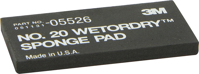 """3M 05526 Wetordry 2-3/4"""" x 5-1/2"""" x 3/8"""" Sponge Pad 20"""