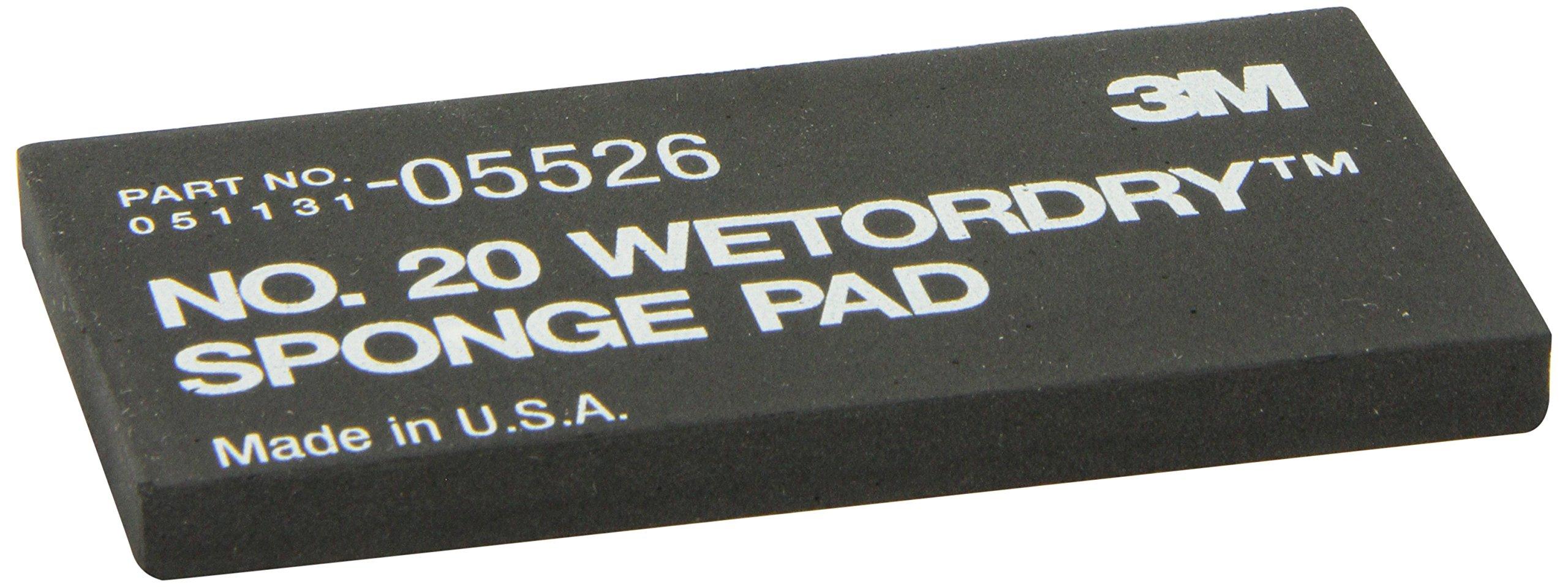 3M 05526 Wetordry 2-3/4'' x 5-1/2'' x 3/8'' Sponge Pad 20
