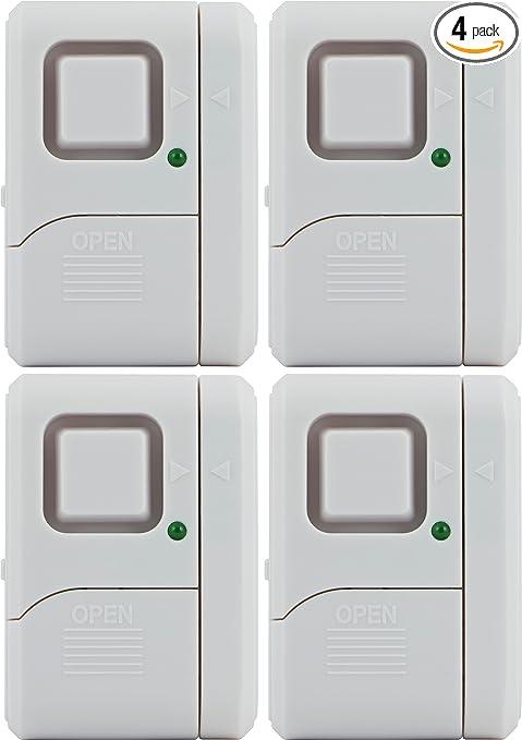 GE Personal Security Window/Door Alarm, 4-Pack, DIY Home Protection,