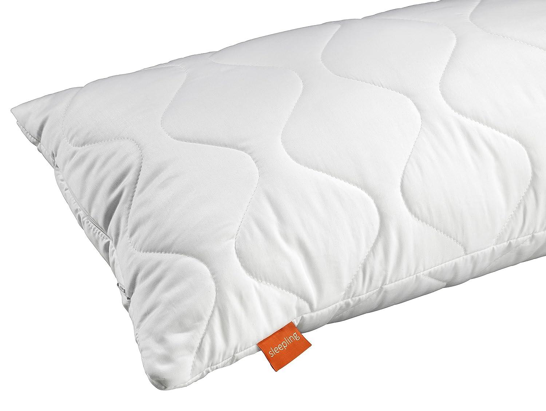 Blanco sleepling 190013 Almohada de algod/ón y sat/én 40 x 80 cm