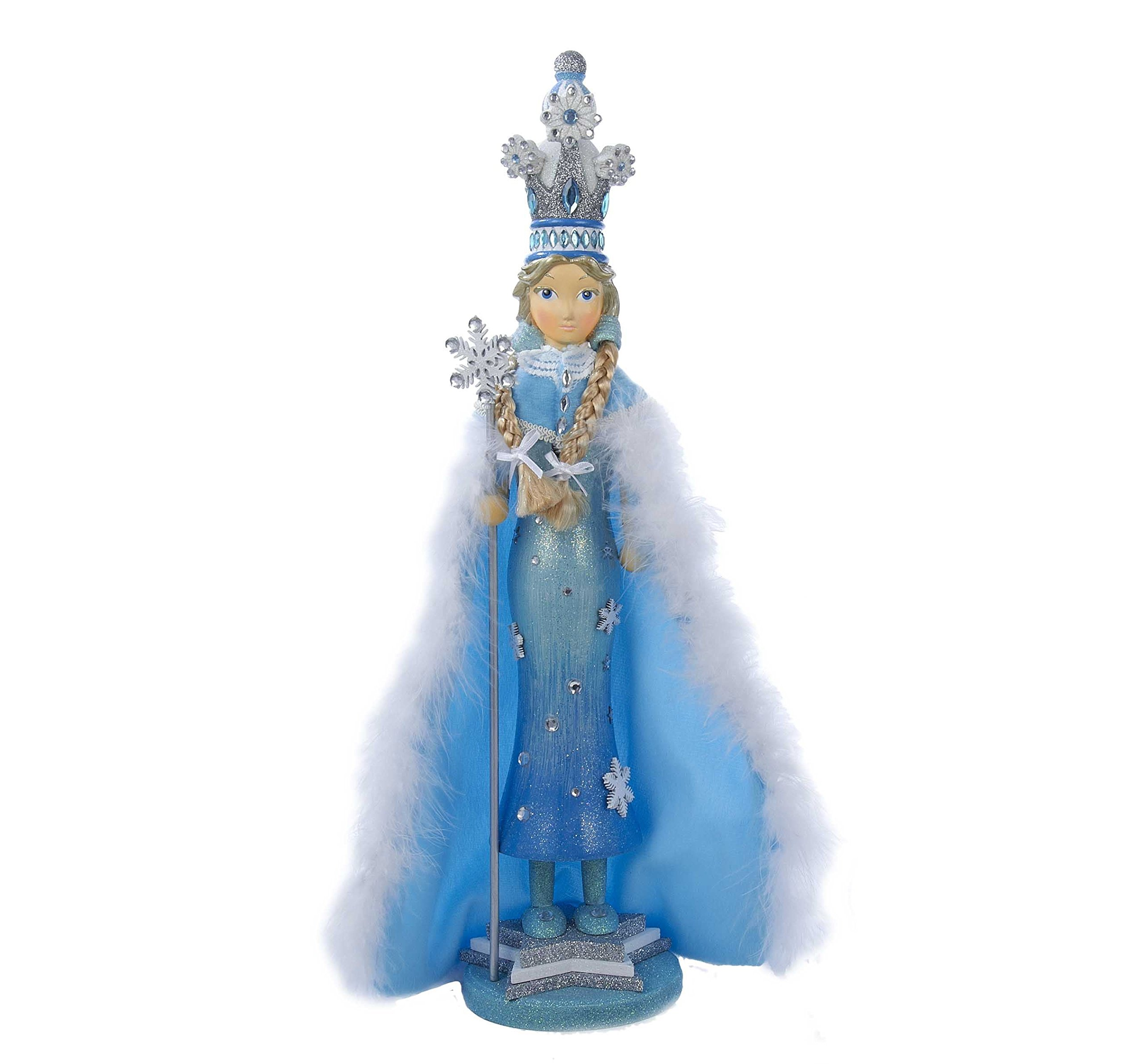 Kurt Adler Hollywood Snow Princess Nutcracker, 20-Inch