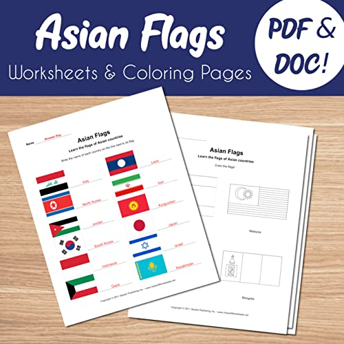 Asia Flags Coloring Pages: 45 Coloring Sheets of National Flags (2020) | 500x500