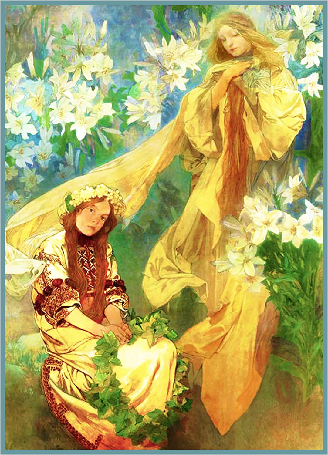 Orenco Originals Madonna of The Lilies 1905 by Mucha Counted Cross Stitch Pattern