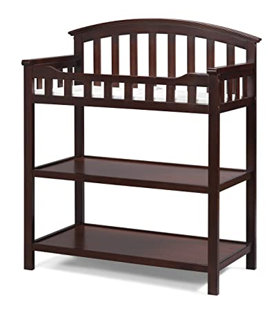 Graco Changing Table, Cherry, Nursery Changing Table For Infants Or Babies,  Includes Water
