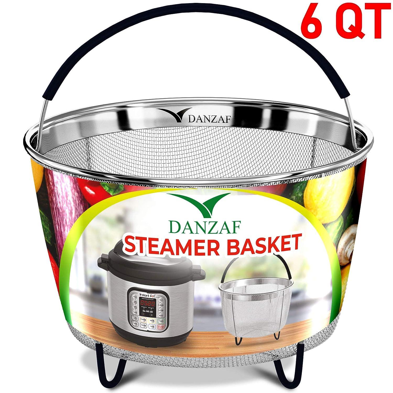 Instant Pot Accessories Steamer Basket 6qt - Pressure Cooker Accessories - Instant Pot Steamer Rack Stand Trivet - Egg Rack - Instant Pot Stainless Steel Strainer Steamer Basket – InstaPot steaming Danzaf
