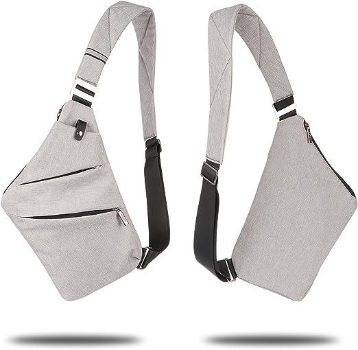Jeerui Sling Bag Crossbody Beil/äufige Segeltuch Umh/ängetasche Outdoor Sports Preferred Freizeit Diebstahlsicherung Multifunktion Rucksack Zwei Farben